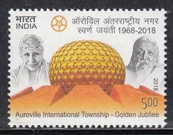INDIA 2018  AUROVILLE International Township, Golden Jubilee, 1v ,, MNH (**) - Inde