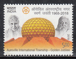 INDIA 2018  AUROVILLE International Township, Golden Jubilee, 1v ,, MNH (**) - India
