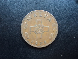 MALTE : 1 CENT  1975   KM 8    TTB - Malte