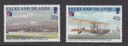1999 Falkland Islands France Navy Air Force Aviation Navy Complete Set Of 2 MNH - Falkland Islands