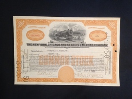 The New York, Chicago And Saint Louis Railroad Company - Chemin De Fer & Tramway