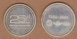 AC - 25th ANNIVERSARY OF BORUSAN AUTOMOTIVE 1984 - 2009 BMW MINI LAND ROVER TURKISH AUTOMOTIVE COMPANY SILVER MEDALLION - Professionals / Firms