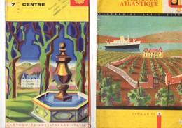 Lot De 2 Cartoguides, Centre Et Périgord Altlantique,  SHELL, Carte Routière, état Médiocre - Cartes Routières