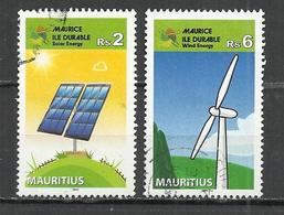 MAURITIUS 2013 - SSTAINABLE ENERGY - CPL. SET - USED OBLITERE GESTEMPELT USADO - Protection De L'environnement & Climat