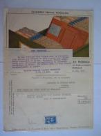 Bruxelles 1927 Roneo Charles Herinck Facture Machine à écrire Taxe De Transmission De 80 F Fiscale Zegel - Belgium