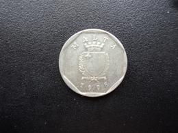 MALTE : 5 CENTS  1998   KM 95     SUP - Malte