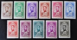 SERIE POUR LE CAMBODGE - ROI MONIVONG 1936 - NEUFS * - YT 182/92 - MI 209/19 - Indochina (1889-1945)