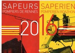 Calendrier Des Sapeurs Pompiers De RENNES, (35) Ille Et Vilaine, De 2016, 20 Pages - Calendars
