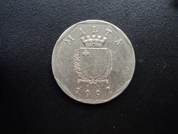 MALTE : 50 CENTS   1992   KM 98   SUP - Malta