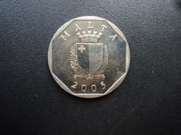 MALTE : 50 CENTS   2005 S.O.   KM 98    Non Circulé - Malta