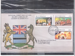FDC Botswana - Silver Jubilee Of QEII - Complete Set - Botswana (1966-...)