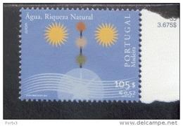 CEPT Lebensspender Wasser Madeira 212 MNH ** - 2001