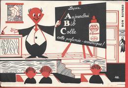 Buvard Ancien BIB COLLE De Bureau - BEISSIER Illustré Par A.R.  Instituteur, Classe, élèves   Imprimerie PRADEL Paris - Stationeries (flat Articles)