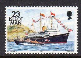 GB ISLE OF MAN IOM - 1993 DEFINITIVE SHIPS 23p STAMP FINE MNH ** SG 546 - Isle Of Man