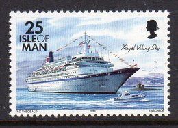 GB ISLE OF MAN IOM - 1993 DEFINITIVE SHIPS 25p STAMP FINE MNH ** SG 548 - Isle Of Man