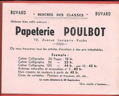 Buvard Ancien PAPETERIE POULBOT Ave Lavigerie à KOUBA (Algérie)   - Buvard Rentrée Des Classes  - Format 16.3 X 21 - Stationeries (flat Articles)