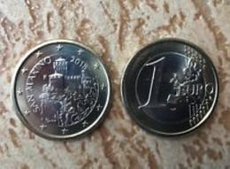 San Marino 2018  1 Euro  Met De Nieuwe Afbeelding - Nouvelle Représentation UNC Uit De Rol - UNC Du Rouleaux . - San Marino