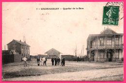 Gouzeaucourt - Quartier De La Gare - Animée - Edit. P.L. Rue Des Arts à Lille - 1908 - Marcoing