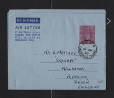 GB KING GEORGE VI AIRLETTER POSTAL STATIONERY CHRISTMAS ISLAND - Christmas Island