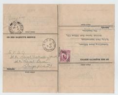 GB OHMS CHRISTMAS ISLAND RFA CONSTANTINE/BEAUHARNOIS 1957 SINGAPORE - Christmas Island