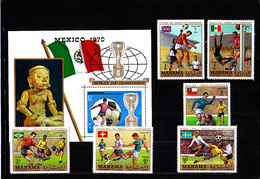 Soccer World Cup 1970 - MANAMA - S/S+Set Perf. Ovp MNH** - World Cup