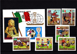 Soccer World Cup 1970 - MANAMA - S/S+Set Imp. MNH** - 1970 – Mexique