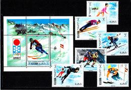 Olympics 1972 - Ice Hockey - RAK - S/S+Set Perf. MNH - Hiver 1972: Sapporo