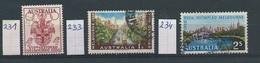 Australië  Y/T    231 -233 - 234584  (O) - 1952-65 Elizabeth II : Ed. Pré-décimales