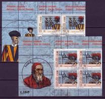 2005 - VATICANO - Guardia Svizzera Pontificia , Quartine - Annullo Primo Giorno - Usados