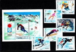Olympics 1972 - Ice Hockey - RAK - S/S+Set Imp. MNH - Hiver 1972: Sapporo