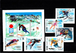 Olympics 1972 - Ice Hockey - RAK - S/S+Set Imp. Ovp MNH - Hiver 1972: Sapporo