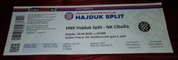 HAJDUK- CIBALIA - Tickets D'entrée