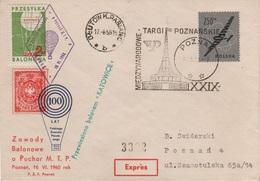 Ballonpost Ballon Post Poczta Balonowa Zawody Balonowe Poznan 1960 Polonez Przesylka Znaczek Pocztowy Balloon Poste Mail - Poste Aérienne