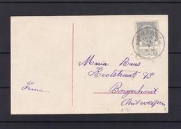 Carte : BORGERHOUT Oblitération 1910 - 1893-1907 Armoiries