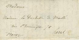 1837 (8 Janvier). Lettre Confiée De Smyrne Pour Paris. Ouverte, Désinfectée Et Recachetée à Semlin (emlin) - Turkey