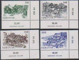 Faroe Islands 1981 Old Torshavn 4v (corner)  ** Mnh (38959B) - Faeroër