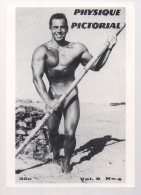 REF EX  : CPM Grand Format - Culture Physique Pictorial Homme Muscle Gay  Nu - Cartes Postales