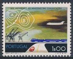 Portugal 1973 Mi 1209 YT 1189 ** Transport By Land, Sea, Air + Weather Map /  Verkehrsverbindungen + Wetterkarte - Transportmiddelen