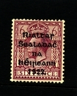 IRELAND/EIRE - 1922  6d. OVERPRINTED THOM  MINT SG 39 - 1922 Governo Provvisorio