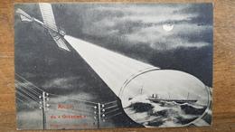 "RARE CPA  .AMITIES DU ""OCEANIEN"" - Messageries Maritimes - Paquebote"