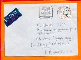 ALLEMAGNE, RFA, Lettre De Lubech, Centre De Tri 23, Flamme E Lubech - [7] République Fédérale