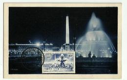 Carte Maximum PARIS - PLACE De La CONCORDE (création Perso 1947) - 1940-49