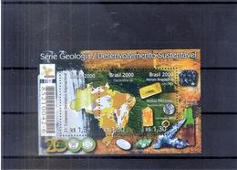 Brésil - Bloc 111 - Géologie - XX/MNH  (à Voir) - Géologie