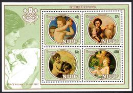 Niue 1982 Prince William Paintings Souvenir Sheet Unmounted Mint. - Niue