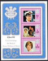 Niue 1982 Prince William (2nd) Souvenir Sheet Unmounted Mint. - Niue