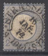 DR Minr.20 Gestempelt Hufeisenstempel Strassburg 18.1.74 - Deutschland