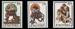 Lesotho Scott #345-347, Set Of 3 (1981) Christmas Issue, Mint Hinged - Lesotho (1966-...)