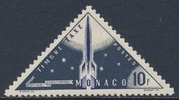 Monaco 1953 Mi 51 YT 49 - Timbre Taxe / Portomarke * MH - Postal Rocket / Weltraum-Rakete / Fusée - Post