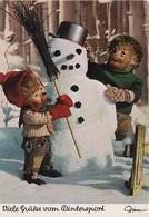 Künstlerkarte AK Mecki Viele Grüße Vom Wintersport Igel Comic Figur Comicfigur Diehl Hör Zu Hörzu Igelkarte Serie 367 - Mecki