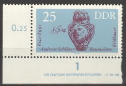 DDR 1010 Eckrand Mit Druckvermerk ** Postfrisch - DDR